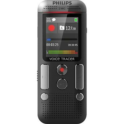 NEW Philips DVT2500 Digital Recorder with 2Mic Stereo Recording 1.8-in 4GB Voice