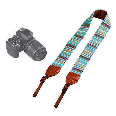Vintage Camera Shoulder Neck Belt Strap For SLR DSLR Canon Nikon Sony Panasonic