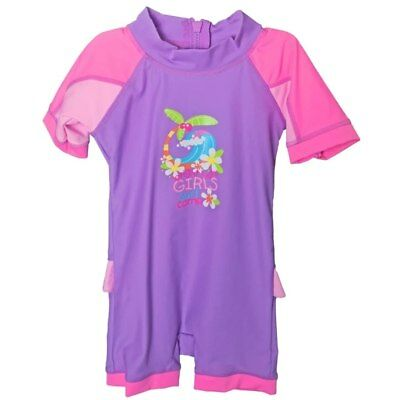 Bright Bots - Size 2 - Swimwear All In One Short Sleeve Girl - Surf Comp - Pu...