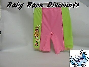 NEW Bright Bots - Swimmer Shorts- size 00 -Lime/Pink from Baby Barn Discounts