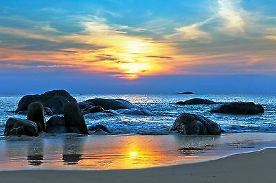 Large Canvas Australia  photo landscape art   beach  ocean sunset sunrise Photo
