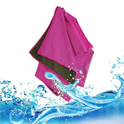 Pink Ice Cooling Towel Perfect for Sports, Fitness, Out door activity,Gym & Yoga