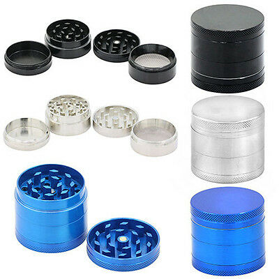 Silver 4 Layer Metal Tobacco Crusher Hand Muller Smoke Spice Herb Grinder Makers