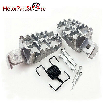 Aluminum Silver Foot Pegs Footrest For Yamaha TW200 PW50 PW80 Pit Dirt Bike
