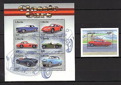 Liberia 2001 Transport Cars MNH