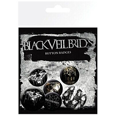 Black Veil Brides Official 6 Button Set Badge Pack Metal Badges New