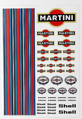 RC MARTINI stickers decals 1/18 scale losi mini xray hpi 18th associated radical