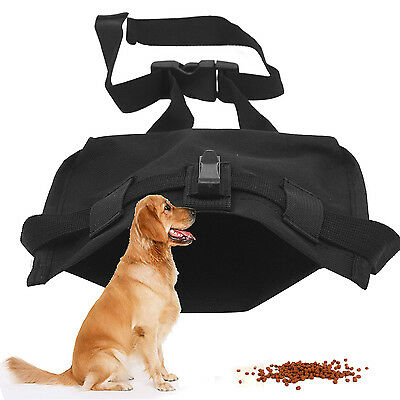 Dog Pet Treat Training Bait Pouch Bags Obedience Food Storage Holder Black