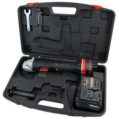 """Heavy Duty 18V Lithium Ion Cordless 4.5"""" 115Mm Lion Battery Angle Grinder"""