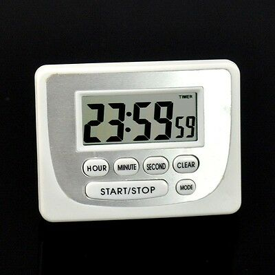 Digital LCD Timer Kitchen Cooking Count-Down Up Electronic Clock Magnetic Stand