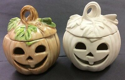 Paint Your Own Pottery Pumpkin Bisque Ceramic Pot