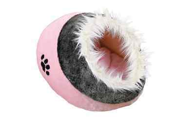 Trixie Minou Cuddly Cat Cave, Plush Cat Bed,  Pink/Grey