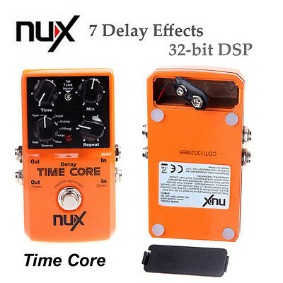 NUX Time Core Guitar Effect Pedal 7 Delay Effects True Bypass