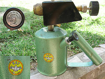 Vtg Rare German Bat 501 Gasoline Petrol Brazing Blow Torch Blowlampe Blowpipe