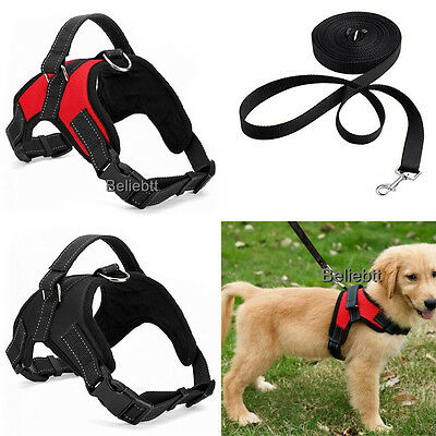 Dog Vest Harness Leash Collar Set No Pull Adjustable for Small/Medium/Large/XL