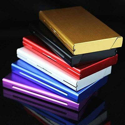 Metal Aluminum Alloy Thin Cigarette Case Tobacco Holder Pocket Box Container