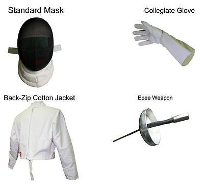 Blade Fencing 4pc Beginner Starter Practice Epee Set Kit (Male Right Handed)