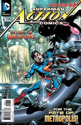 Action Comics Issue 8 - First Print Grant Morrison - Dc Comics New 52 Superman