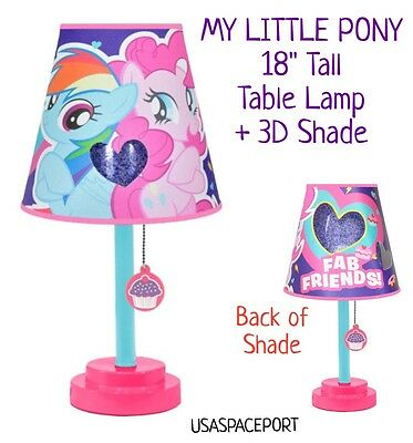 2pc My Little Pony NIGHT LIGHT Table LAMP + 3D Shade Bed Room Bedding Decor Set