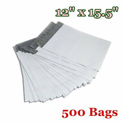500 12x15.5 Poly Mailers Shipping Envelopes Plastic Self Sealing Bags 2.5 Mils
