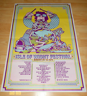 ISLE OF WIGHT FESTIVAL '70 2nd OFFICIAL POSTER DOORS HENDRIX FREE ELP THE WHO