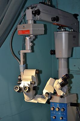 Zeiss OPMI 6-SFR Surgical Microscope S3 Base Foot Pedal Focus Zoom Dual Heads
