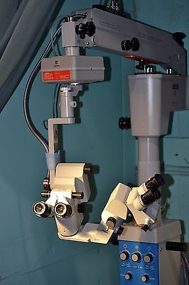 Zeiss OPMI 6-SFR Surgical Microscope Universal S3 Base Foot Pedal Focus Zoom Mov