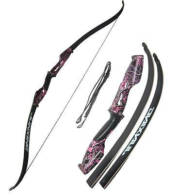 35lbs Archery Takedown Recurve Bow Hunting Target Practice Longbow Right Hand