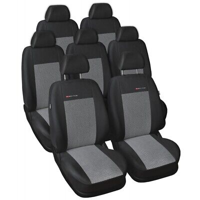 Tailored seat covers for Ford S-Max FULL SET  7 seater grey