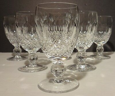 6 Vintage Waterford Crystal Colleen White Wine Glasses