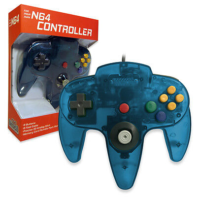 Nintendo 64 CONTROLLER TURQUOISE  N64 *OLD SKOOL* New In Box!!