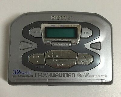 Vintage Sony Walkman WM-FX491 FM/AM Radio Portable Audio Cassette Tape Player
