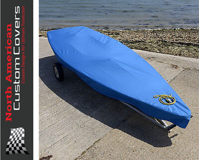 Laser Dinghy Sail Boat Deck Cover - Tailored - Blue {125B}