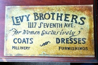 1910's Beaver Falls Pennsylvania Levy Brothers Vintage Women's Advertising