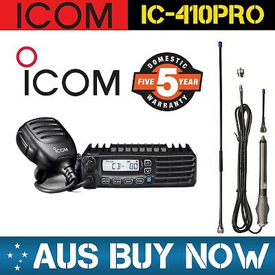 Icom Ic-410Pro Uhf Cb Two Way Radio Ic 410 Pro Ic410Pro 41Pro Antenna Gi Aerial