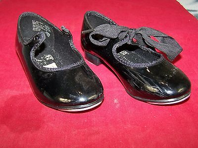 Abt American Ballet Theatre Black Tap Dancing Shoes Toddler Size 7.5