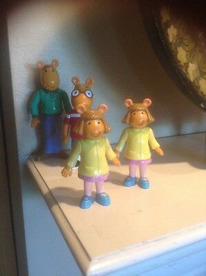 Pbs Arthur Reed Family Figures Marc Brown Single Dad Son Two Daughters Twins !