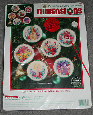 Ribbon Embroidery Kit Ornaments Judy Hand 8082 Dimensions