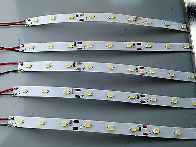 "9 led strip (lot of 5) Warm white light 6"" length G lighting"