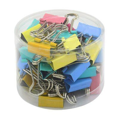 Multi-Color 60Pcs Office File Paper Organizer Metal Binder Clips Size 15mm