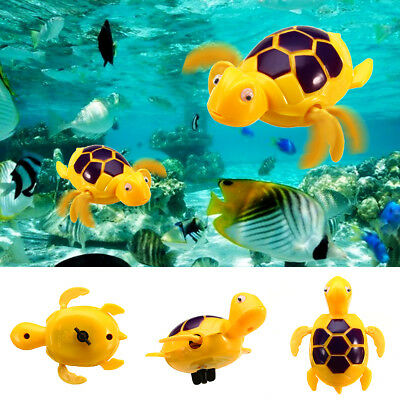 1 x Wind-up Swimming Floating Turtle Toy Wind Up for Baby Kids Bathing Time