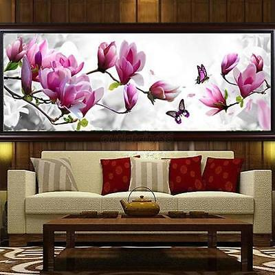 DIY Butterfly Flower Embroidery 5D Diamond Painting Cross Stitch Kit Home Decor