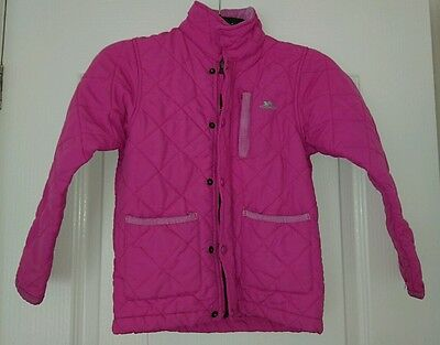 Girls Pink Quilted Trespass Coat Age 5-6 - Christmas Gift?
