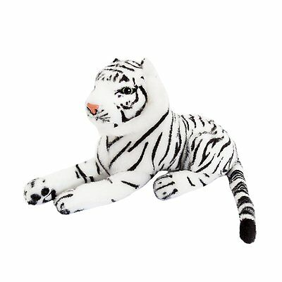 d3821d42236 WHITE TIGER STUFFED Animal Fluffy Plush Earmuff Beanie Hat Cap Mask ...