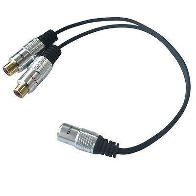 Useful 3.5mm Stereo Female To 2 RCA Female Splitter Audio Adapter Short Cable
