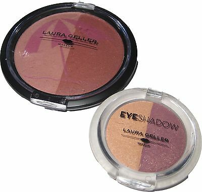 Laura Geller Blush in Sandal Wood and Eyeshadow in Dusk till Dawn