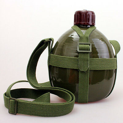Hi-Q OLD CHINESE Military army 87 Style Canteen WATER BOTTLE WITH STRAP 1L