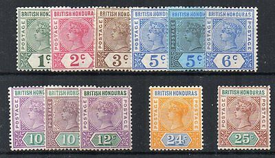 British Honduras 1891-1901 values to 25c MHN/MLH