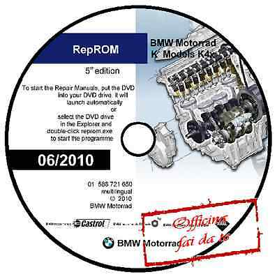 Manuale Officina Bmw S 1000 Rr S1000Rr Workshop Manual 06/2010 Reprom Dvd Cd