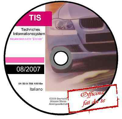 Manuale Officina Bmw Tis 08 / 2007 Workshop Manual Service Technical Cd Dvd